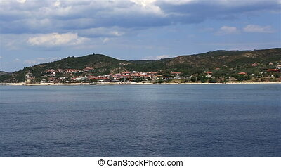 Ouranoupoli on Athos peninsula. Northern Greece.