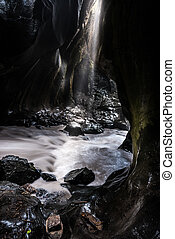 Ouray Box Canyon Waterfall bottom view - Ouray Box Canyon ...