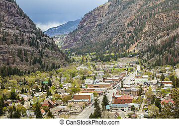 Ouray Panorama - Beautiful Ouray located between high ...