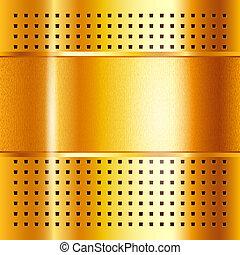 ouro, 10eps, ilustração, metálico, fundo, vetorial, modelo