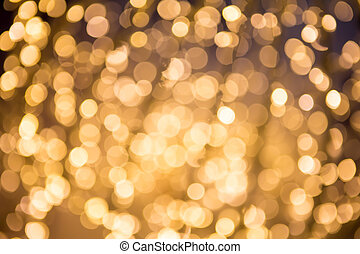 ouro, abstratos, bokeh, defocused, fundo, natal
