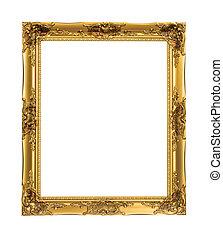 ouro, armação quadro