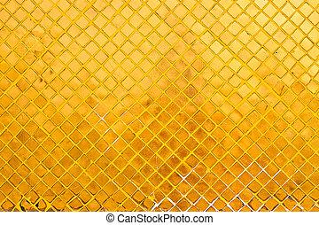ouro, azulejo, fundo