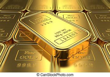 ouro, barras., operação bancária