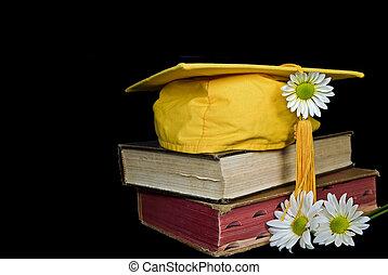 ouro, boné graduação