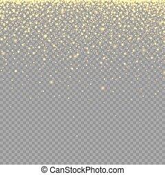 ouro, brilhar, tran, partículas, textura, efeito, abstratos, néon