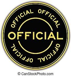 ouro, cor, adesivo, oficial, experiência preta, selo, branca, redondo, fraseio