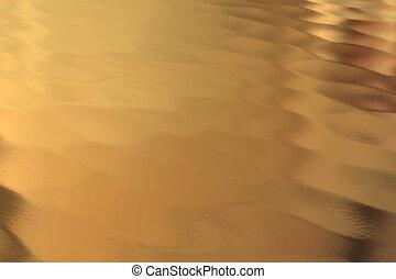 ouro, costas, chão