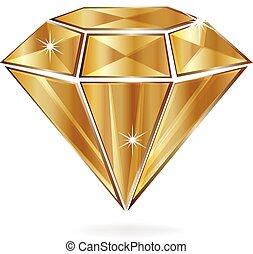 ouro, diamante