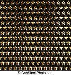 ouro, estrelas, padrão