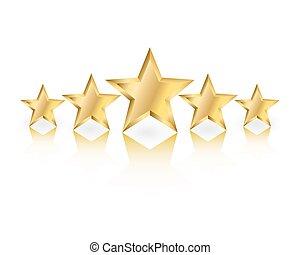 ouro, estrelas
