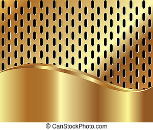 ouro, fundo, metálico