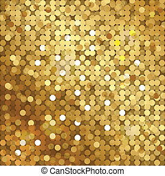 ouro, fundo, sequins
