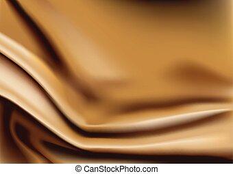 ouro, fundo, tecido, abstratos