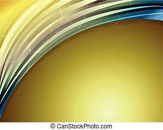 ouro, gradiente, abstratos, curva, fundo