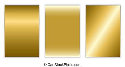 ouro, gradiente, textura, metallic., vetorial, fundo