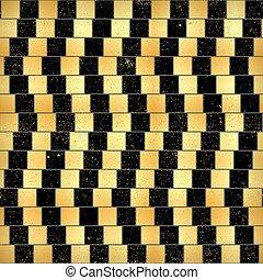 ouro, irreal, seamless, efeito, óptico, pretas, ilusão