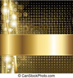 ouro, luxo, fundo