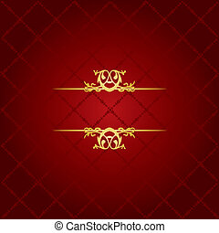 ouro, &, luxo, fundo, vermelho