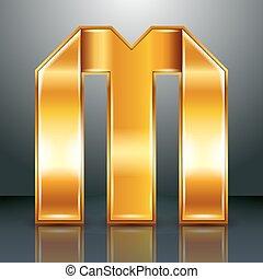 ouro, m, -, metal, letra, fita