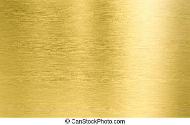 ouro, metal, textura