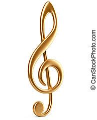ouro, nota música, key.