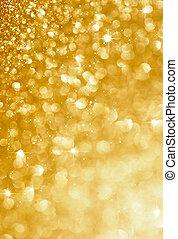ouro, piscando, fundo, natal