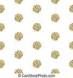 ouro, polkadot, pattern., seamless, vislumbre, folha, brilhar