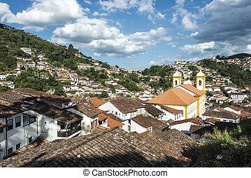 Ouro Preto in Minas Gerais - Brazil - View of the unesco...