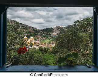Ouro Preto, Minas Gerais, Brazil - Frame of Ouro Preto, a...