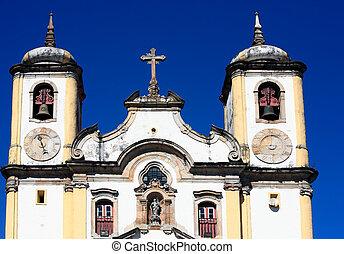 Ouro Preto minas gerais brazil - view of the Igreja de Santa...