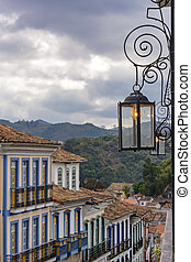 Ouro Preto street and lights