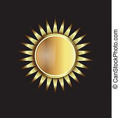 ouro, sol, image., conceito, de, poder