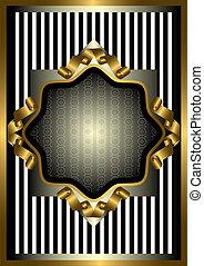ouro, str, quadro, decoração, prata
