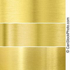 ouro, textura, metal, fundo, cobrança