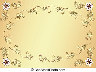 ouro, (vector), fundo, páscoa, flor