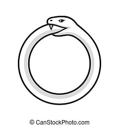 Ouroboros, snake eating its tail - Ouroboros symbol, snake ...
