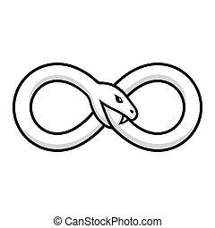 Ouroboros snake illustration - Ouroboros symbol, snake...