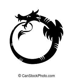 Ouroboros tattoo - Ouroboros (dragon eating its own tail)...