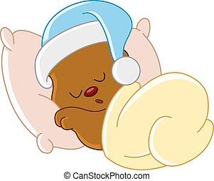 ours peluche, dormir