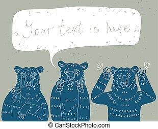ours, sage, trois