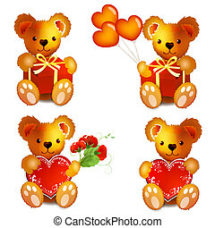 ours, teddy, coeur