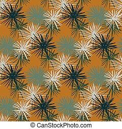 oursin, ornement, gris, orange, océan, résumé, arrière-plan., bleu marine, seamless, étoile, blanc, pattern., silhouettes