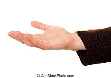 out, להחזיק יד