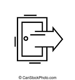 Out door line icon, concept sign, outline vector illustration, linear symbol.