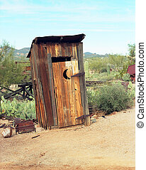 Out House - Old western style outhouse in a ghost town