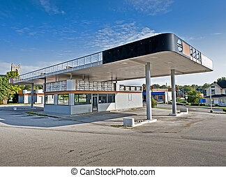 Out of Business Gas Station Convenience Store