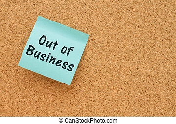 Out of Business notice