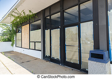 Out of Business Retail Store After Pandemic