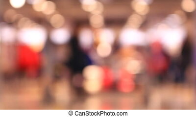Out of focus background and unrecognizable people